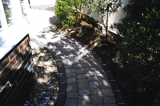 Tegula blocks as a path