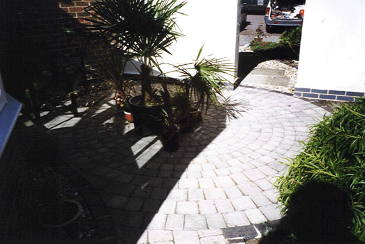 Tegula circular patio