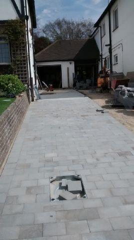 granite paving setts drive in Hove