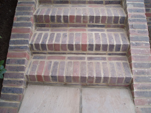 Brick risers and treads