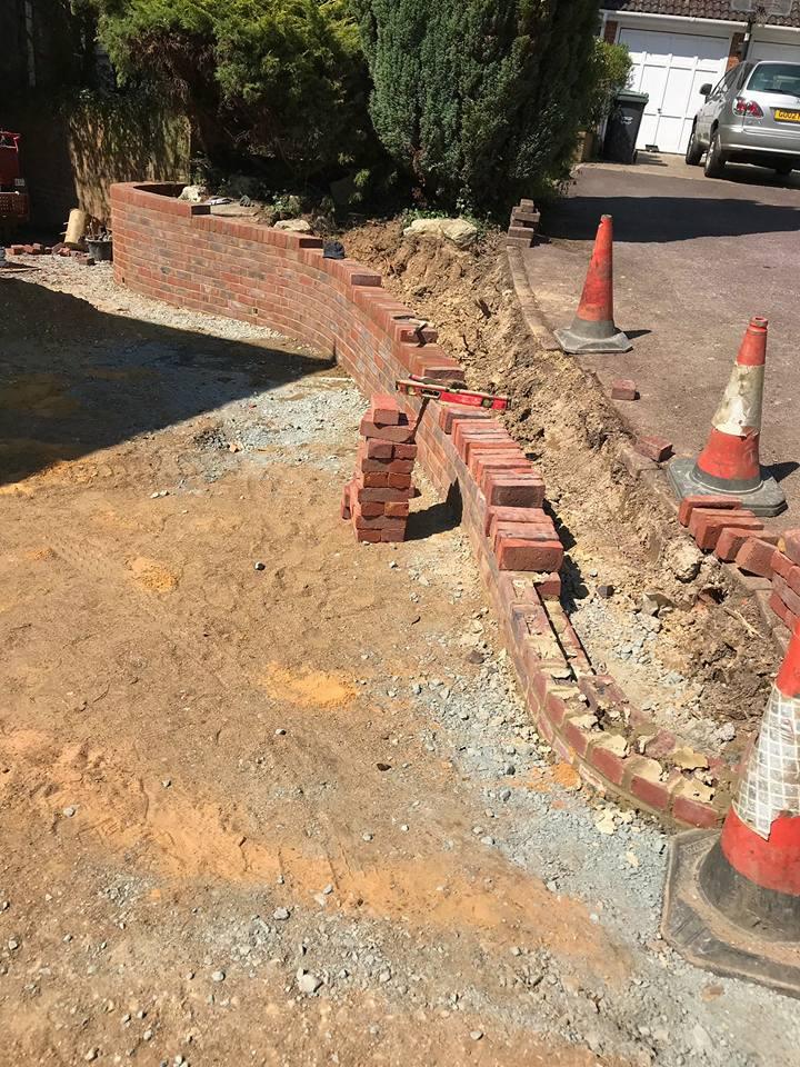 Stock brick walling