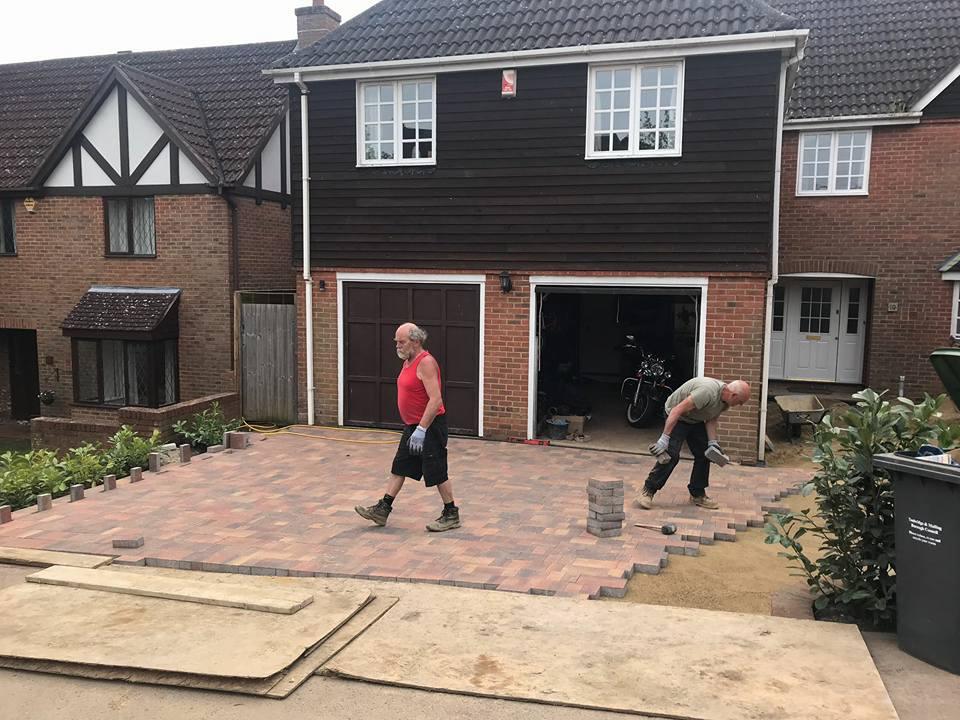 Blocks being laid