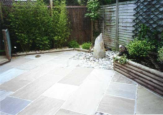 Indian stone paving