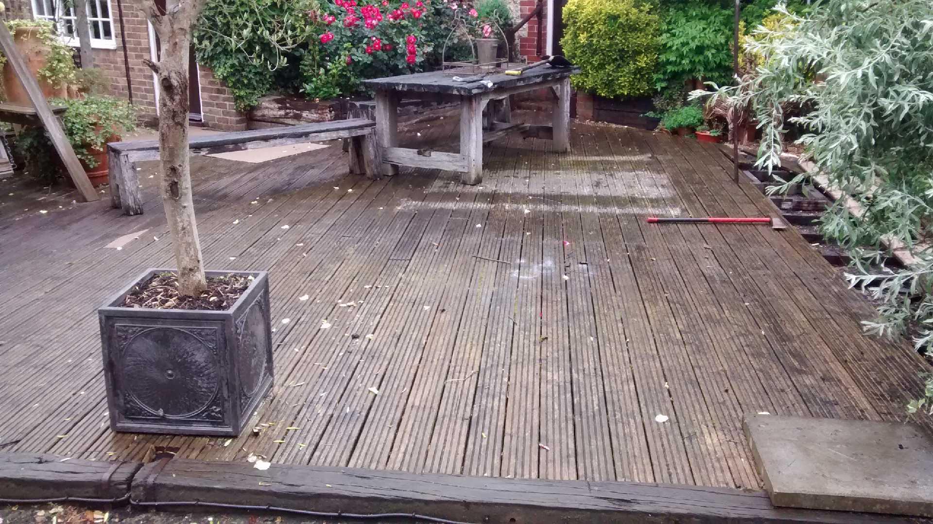 orinal decaying deck at Balneath Manor