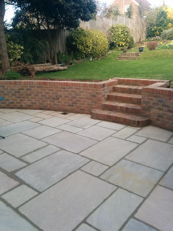 Sussex, Landscape Gardener, Indian Stone, Walling, Steps, Paving