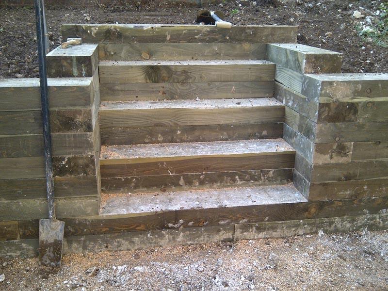 Brick Steps Railway Sleeper Steps Garden Steps Landscape