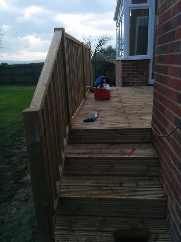 haywards heath deck and decking flight of steps