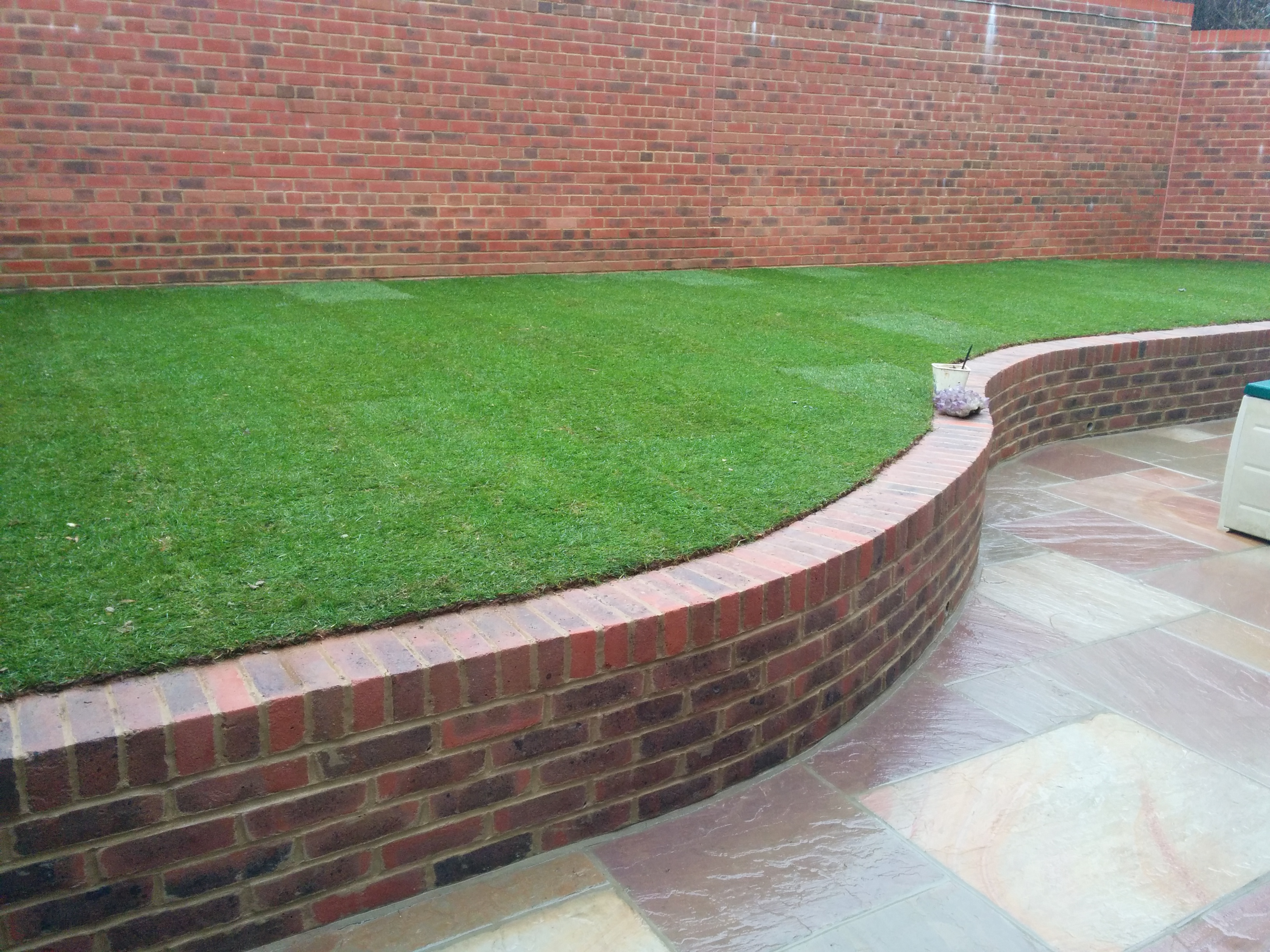 Low retaining stock brick wall in Uckfield