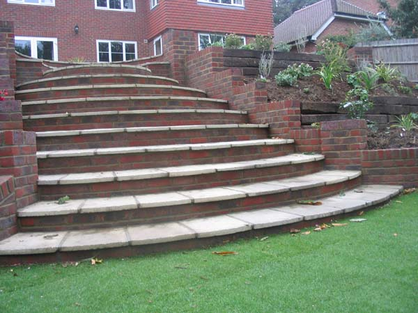 Maresfield retaining walling and major steps